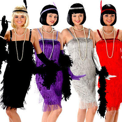 Flapper Ladies Fancy Dress Jazz Charleston 20s 1920s Womens Adults Costumes New