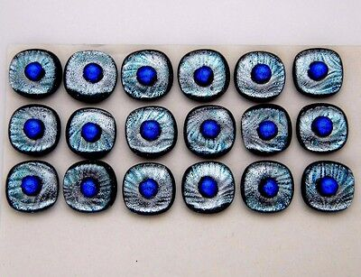 bead on top Lot 18 pcs CABOCHON DICHROIC earrings bracelet FUSED GLASS (B16)