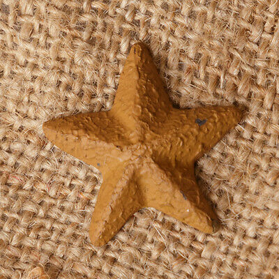 Primitive new small distressed mustard barn star tacks / BAG 6/ nice