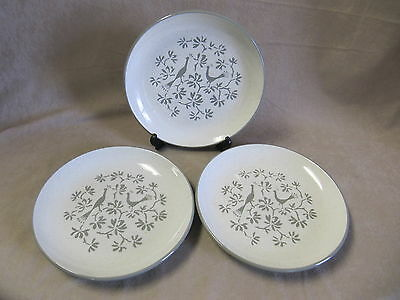 Harkerware Peacock Alley Salad Plates - Set Of Three  In Excellent Condition