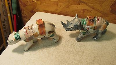 Luxardo Italy Ceramic Animal Bottles