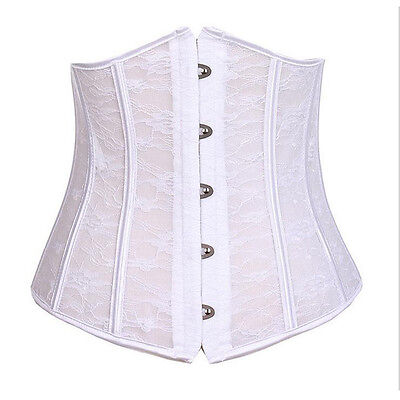 Women's Steel Boned Latex Corsets  Waist Trainer Cincher Body Shaper Corselet