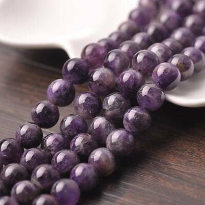 Wholesale 6~12mm Natural Amethyst Gemstone Stone Round Loose Spacer Beads Bulk