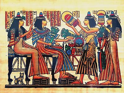 Egyptian Art Papyrus Paper Royal Temples Tombs Pharaohs Made in Egypt EA22