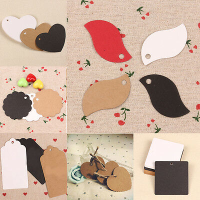 Hot Blank Brown Kraft Paper Hang Tag Wedding Party Favor Label Price Gift Card