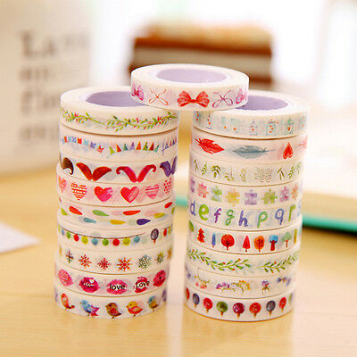 Home Office Decorative Washi Tape Fashion DIY paper Sticky Adhesive Sticker New