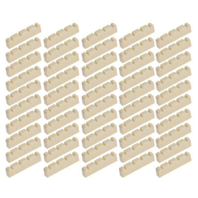 Bass Guitar Nut for 4 String Jazz Precision P Bass Guitar Part Replacement 50pcs