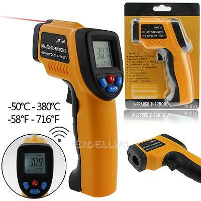 Non-Contact LCD IR Infrared Laser Thermometer Digital Temperature Gun -50 ~ 380℃