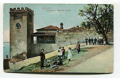 Gibraltar - Entrance to Moorish Castle & Royal Garrison Artillery - old postcard