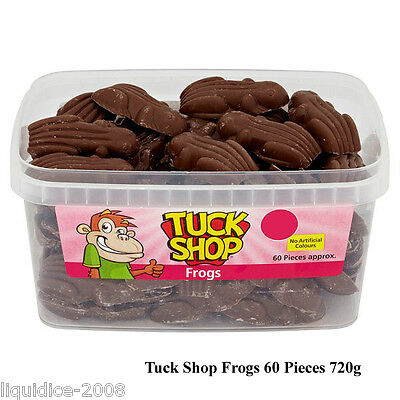 Tuck Shop 1 Full Tub Milk Chocolate Frogs Sweets Favours Treats Party Candy Box
