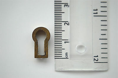 Original Antique Brass Furniture Escutcheon Keyhole Key Hole Rz7
