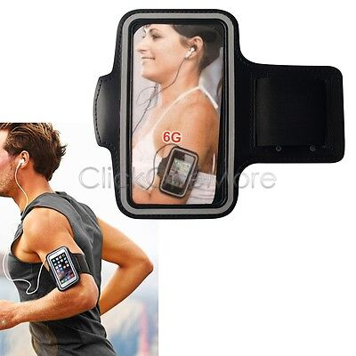 Black Sports Armband Strap Case Holder for iPhone 6 Gym Running Jogging