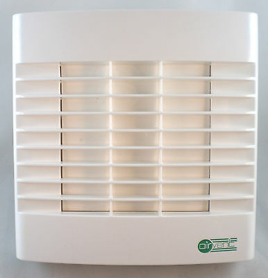 "Bathroom Extractor Fan 4"" 100mm - Timer & Automatic Shutters - Made at Vent Axia"