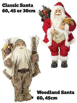 Father Christmas Xmas Standing Santa Claus Decoration Ornament Gift Figure
