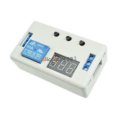 12V LED Display Delay Timer Control Switch Buzzer Module 2/3 Position +Case