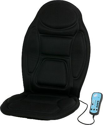 Heated Massaging Seat Cover AC/DC Adaptor 90 Massage Options Car/ Home/Office