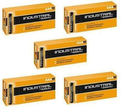 50 X Duracell AAA Industrial MN2400 Battery Alkaline Replaces Procell Exp 2024