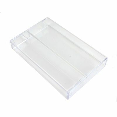 Tapeline Clear Plastic Cassette Library Case (single, without pins)
