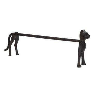 Freestanding Funky Cat Kitchen Roll Paper Towel Holder Brown