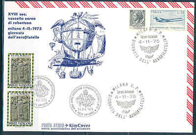 Vatican 1975 Milano Aerophilately Combo Special Cancel Cover W/ Italian Stamps