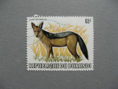 BURUNDI, used stamp 1982, Black-backed jackal
