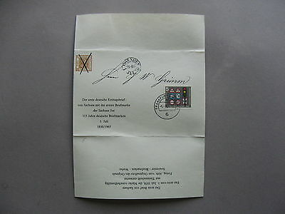 GERMANY, faximile of first FDC of Dresden Sachen