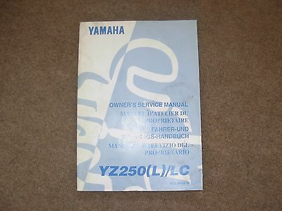 Yamaha YZ250 L LC Motorcycle Owner's Service Manual , late 1990's