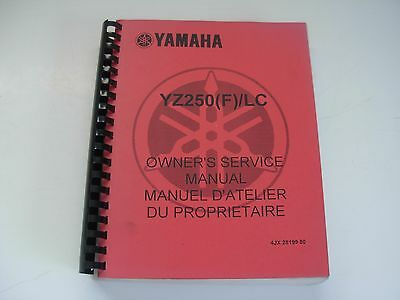Yamaha YZ250 F LC Motorcycle Owner's Service Manual , mid 2000's