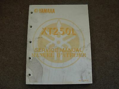 Yamaha XT200L Motorcycle Service Manual , 1983