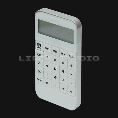 White School Office Portable Pocket Electronic 10 Digits Display Calculator