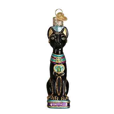 """Egyptian Cat"" (12443) Old World Christmas Glass Ornament"