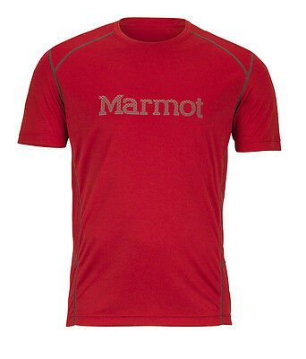 T-shirt tecnica man Marmot Windridge With Graphic SS color Team Red