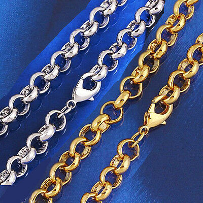 18k 18ct Yellow or White Gold Belcher Link Woman Man Chain Necklace N-A317