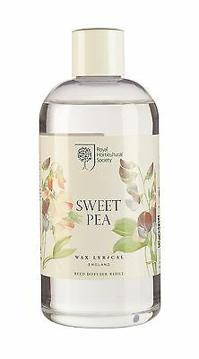 Wax Lyrical Royal Horticultural Society 250ml Reed Diffuser Refill Sweet Pea