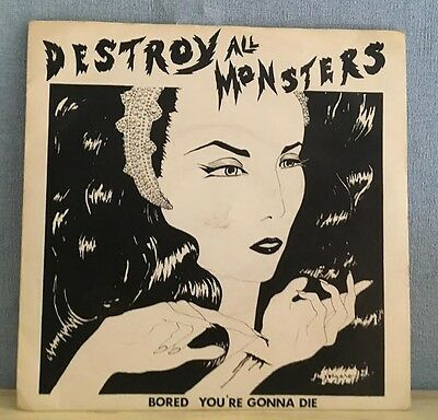 """DESTROY ALL MONSTERS Bored 1979 UK 7""""  RED Vinyl Single EXCELLENT CONDITION"""