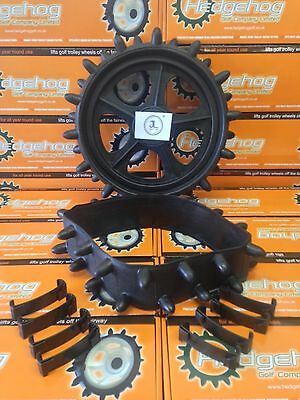 Original Hedgehog Golf Winter Trolley wheel covers studded tyres fits12 inch