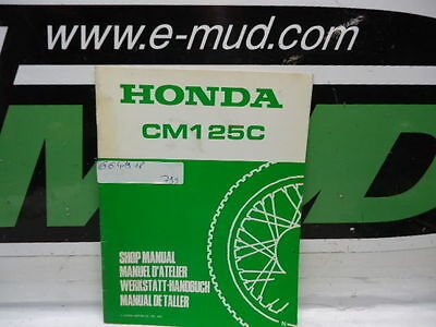 Supplement Manuel Atelier Honda 125 Cm C 6641901P