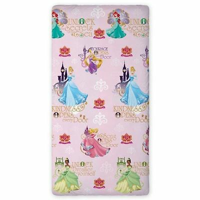 Disney Princess Single Fitted Sheet Cinderella Tiana Rapunzel Official Free P+P