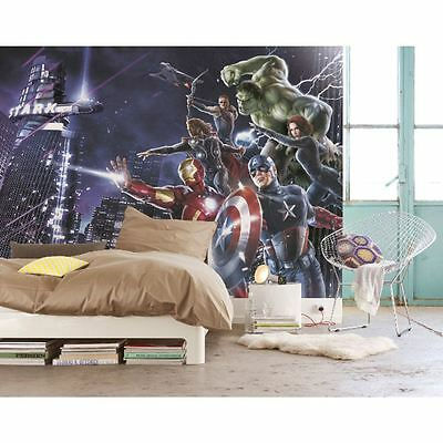 Marvel 'avengers' Large Photo Wall Mural Room Decor Wallpaper Spiderman Hulk