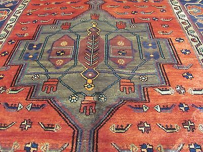 A FASCINATING OLD HANDMADE GOLTOG ORIENTAL RUG (290 x 150 cm)