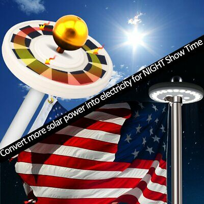 Solar Powered Flag Pole Top Light 26 LED Automatic Waterproof Outdoor New Y3O4