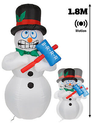 Giant Inflatable Shivering Snowman Outdoor Christmas Decoration Light Up Moving
