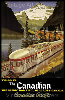 Canadian Pacific Scenic Dome - 11x17 inchl Vintage Railroad Travel Poster