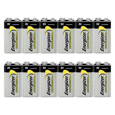 12x Energizer Industrial 9V PP3 6LR61 MN1604 Batteries Money Saving Box Pack!