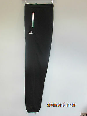 Canterbury Mens Fleece Black Cuffed Jog Pant / Bottom Size S M L Xl Rrp £40