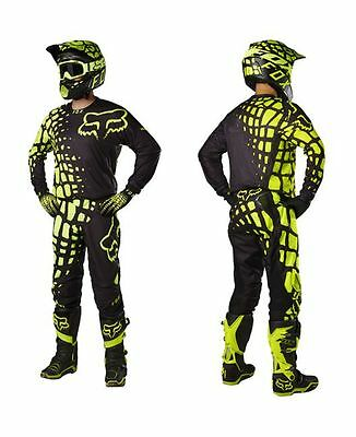 Completo cross enduro downhill FOX 360 GRAV YELLOW (Maglia+pantaloni)