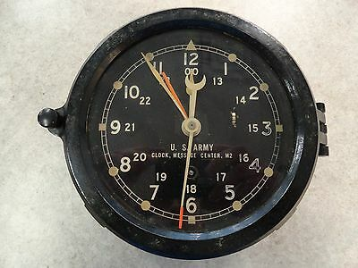 Chelsea Bakelite U.S. Army Clock Message Center M2 - WORKS! - Late 1950's