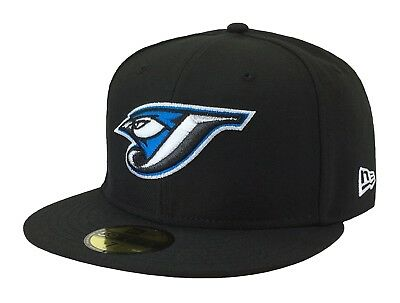 New Era 59Fifty MLB Cap Toronto Blue Jays Cooperstown Fitted Hat - Black