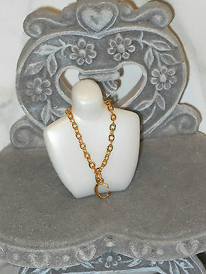 """JEWELRY Barbie Juicy Couture Beverly Hills Gold Tone Necklace With """"G"""" Charm"""