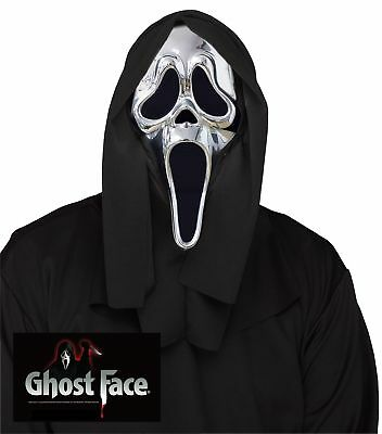 25th Anniversary Scream Collectors Edition Mask Ghost Face Mask Silver Chrome